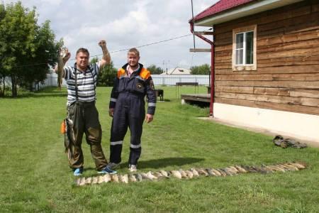 Рыбалка в Сузунском районе в июле 2016 года на базе Клевое место.