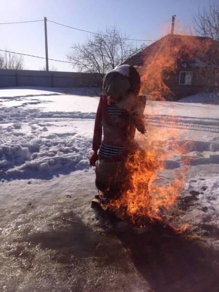 Сожжение куклы Масленицы