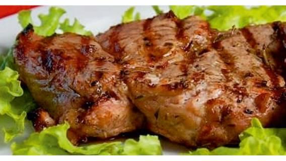 Сочный шашлык из шеи свиной.