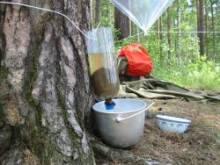 Очистка воды в походных условиях.
